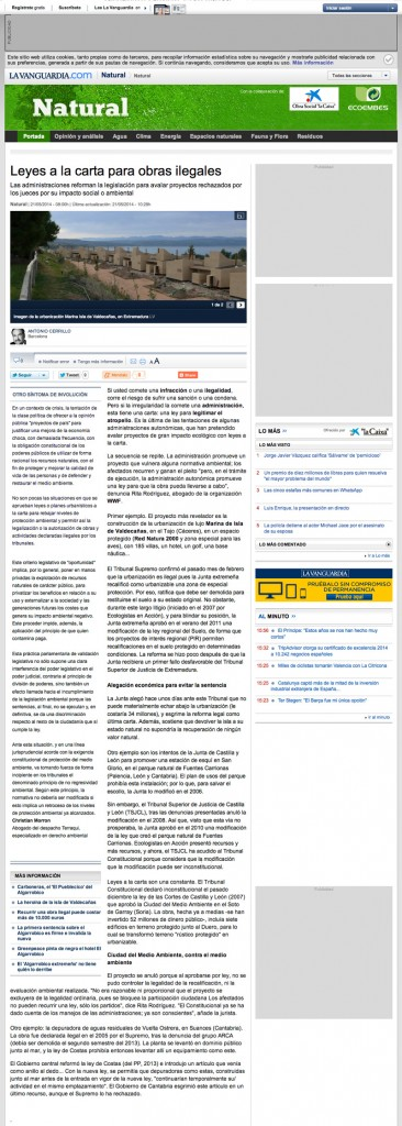La Vanguardia. 21/05/2014